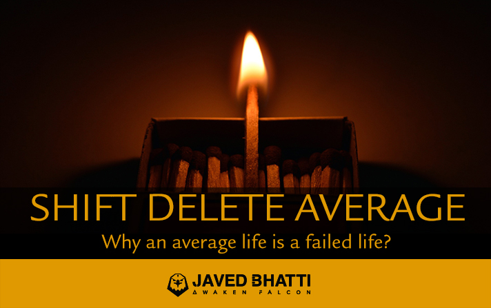 Shift Delete AVERAGE from life